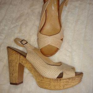 Eric Michael Chunky Summer Heel Sandal. Sz 39